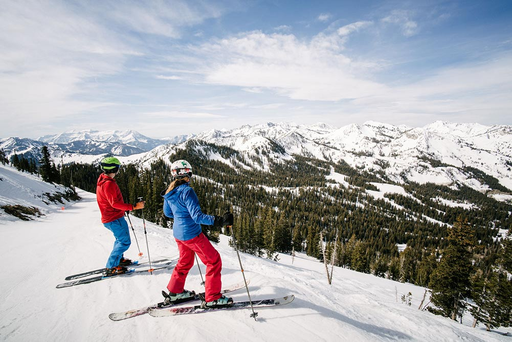 Skiing at Brighton Ski Resort on Salt Lake City discount ski tickets