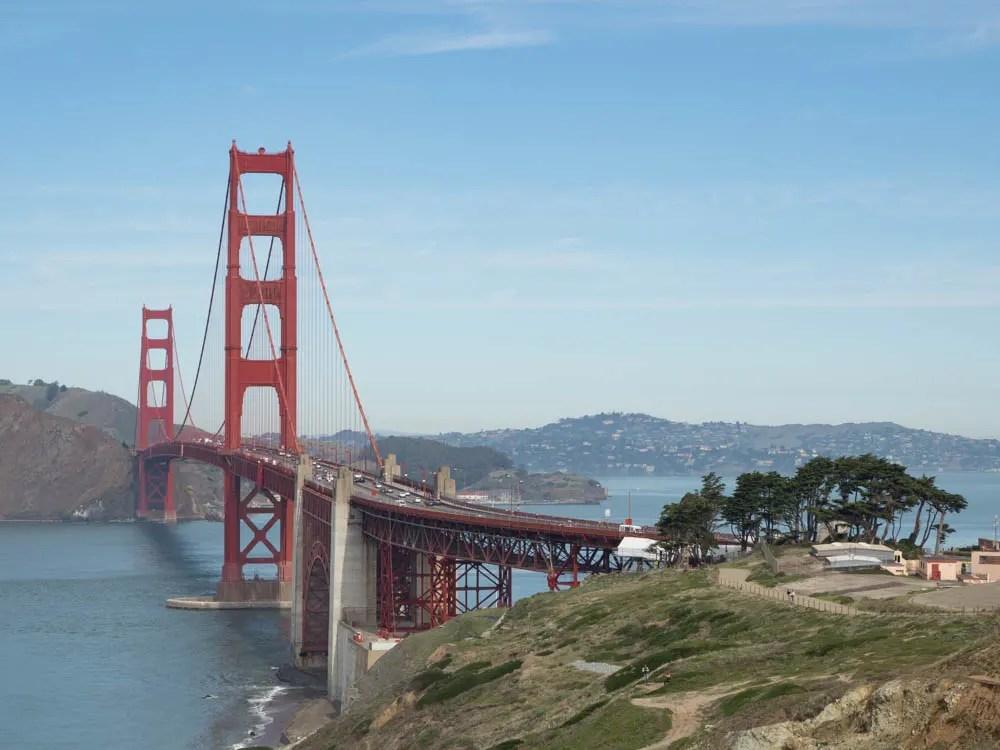 San Francisco Battery Godfrey Bridge view