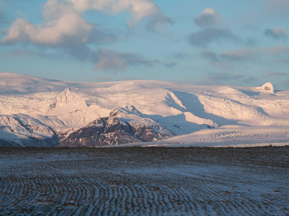 Iceland southern island- sunrise in Hali