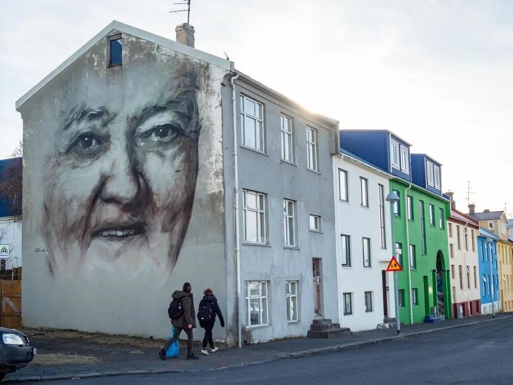 Reykjavik harbor street art