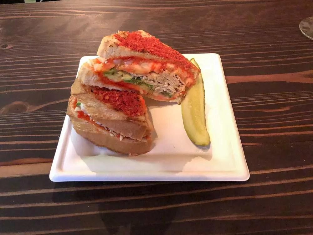 Las Vegas Bin702 cheeto sandwich