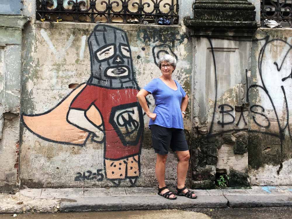 Super Hero Street Art in Cuba