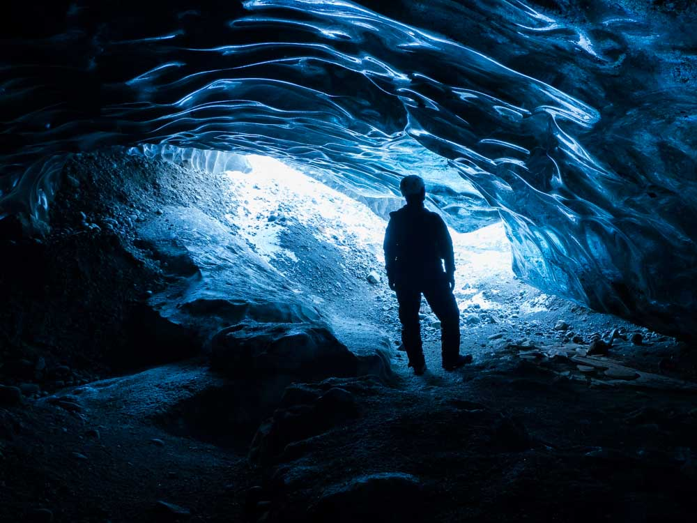 Ice Cave Tour on Solo Travel to Iceland
