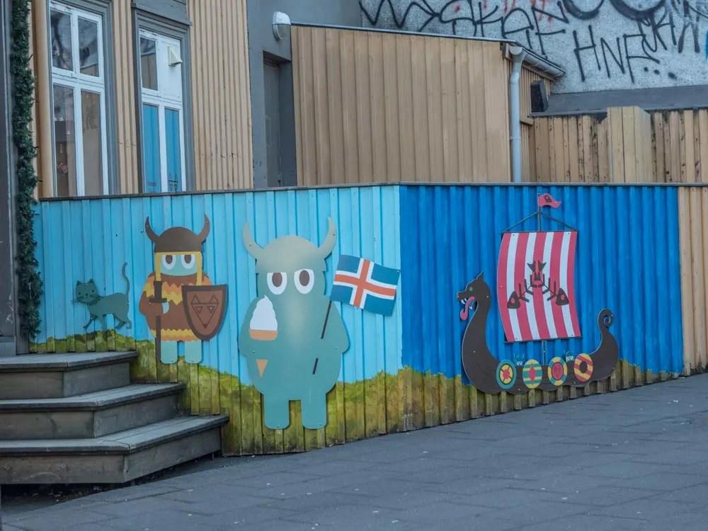 Reykjavik viking mural