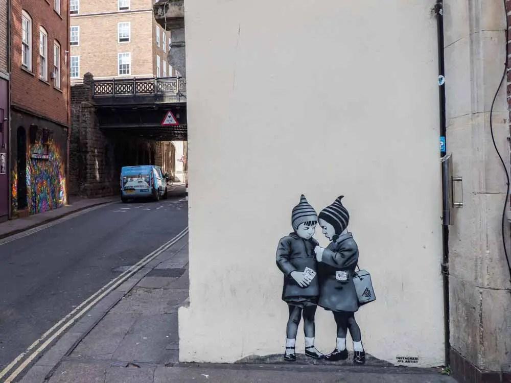 Bristol street art by JPS: Doing the Deal