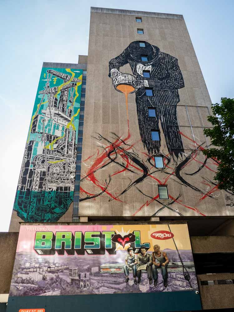 Bristol street art on Nelson street See No Evil Festival