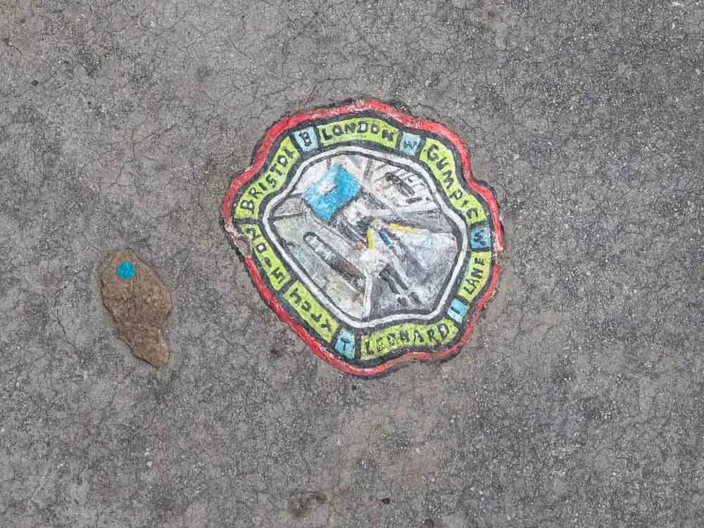 Bristol Leonard Lane street art Ben Wilson gum art