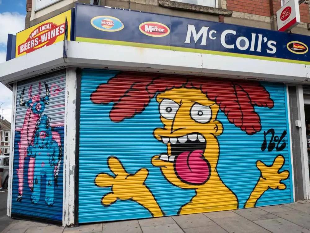 Bristol Upfest Nol Simpsons mural
