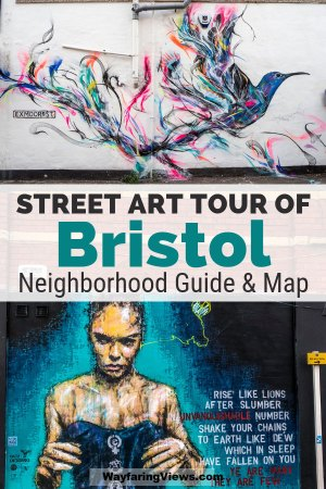 Find the best Bristol street art with this tour of three neighborhoods. The best things to do in Bristol involve street art and you can find Banksy and other artists.