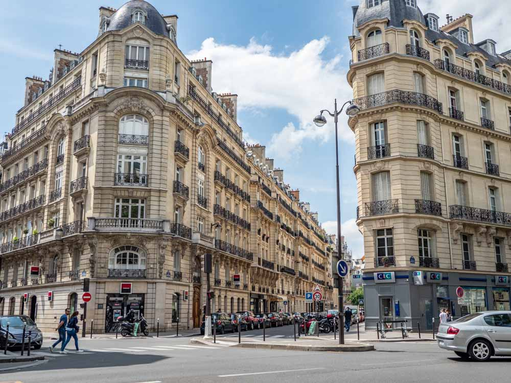 Paris Haussman architecture and city streets
