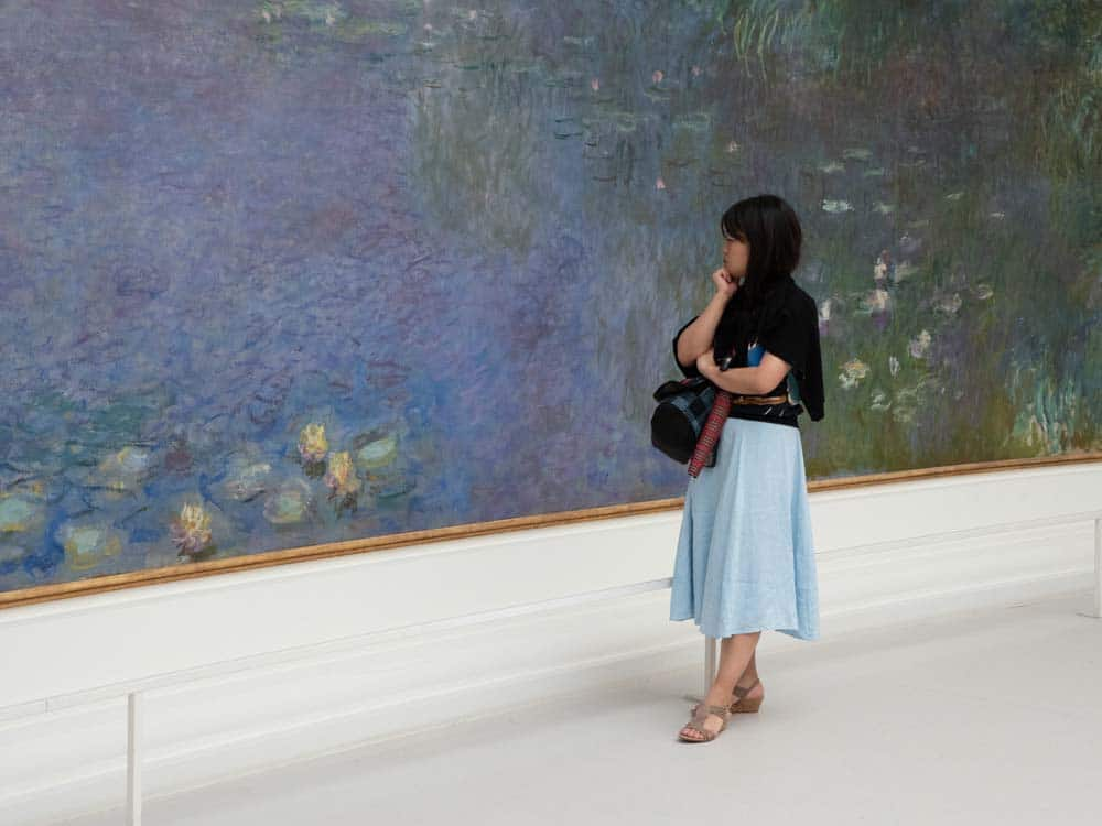 Paris Orangerie museum Monet's lily pond painting