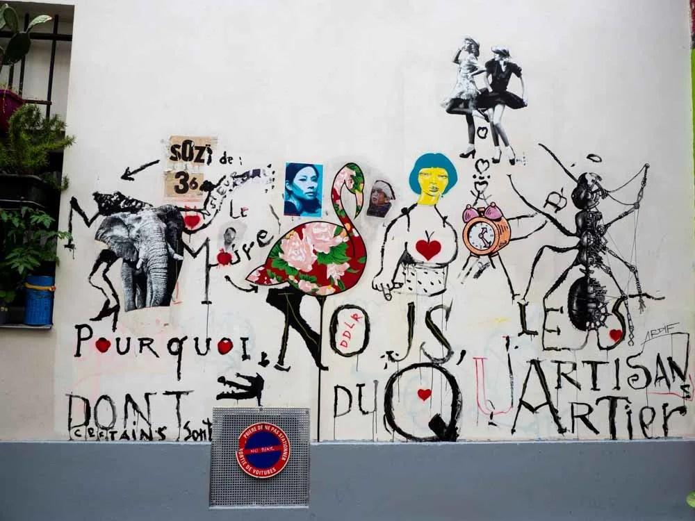 Street art int he 11th arr of Paris
