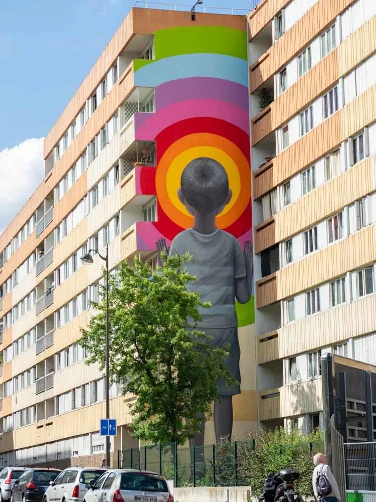 Paris street artist Seth. Piece in the 11th arr