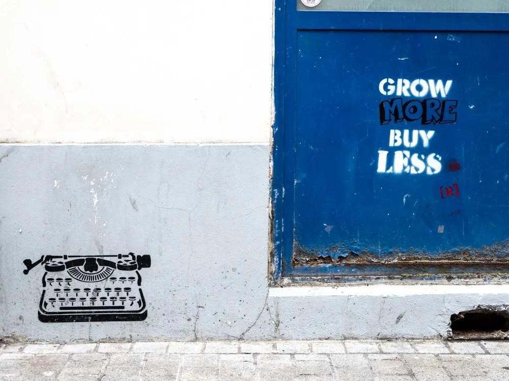 Paris street art stencil by Wrdsmth