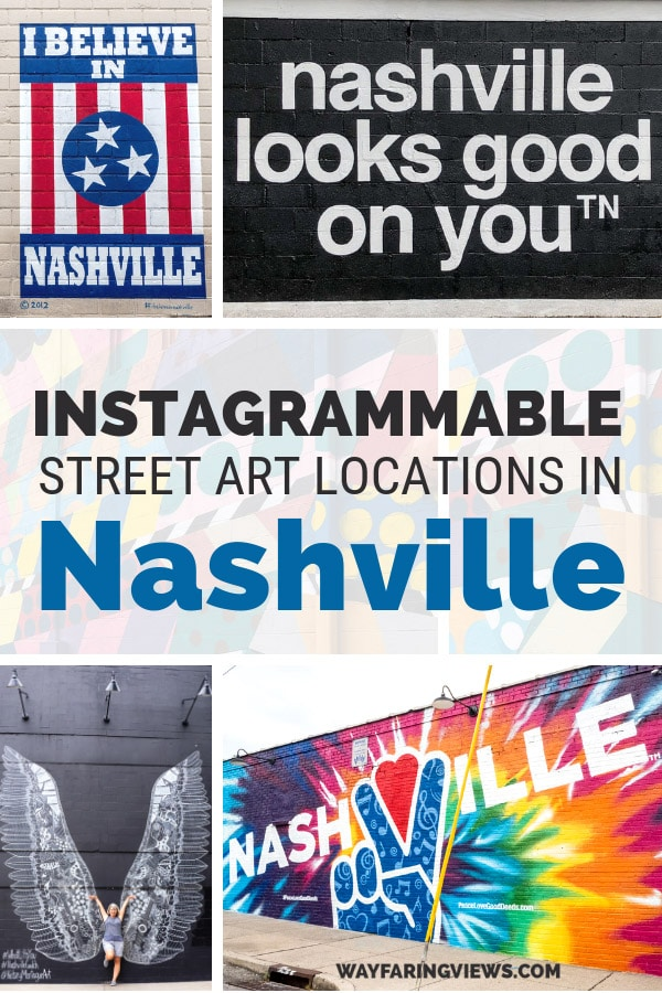 Find the best murals in Nashville Tennessee with this guide. Spotting street art is one of the coolest things to do there and you can get your fill in these four neighborhoods. Find favorite murals like the Wings and I believe in Nashville