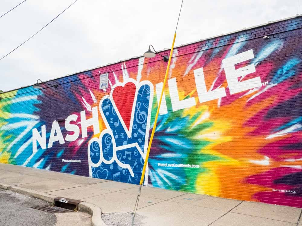 Peace out Nashville street art in 12South