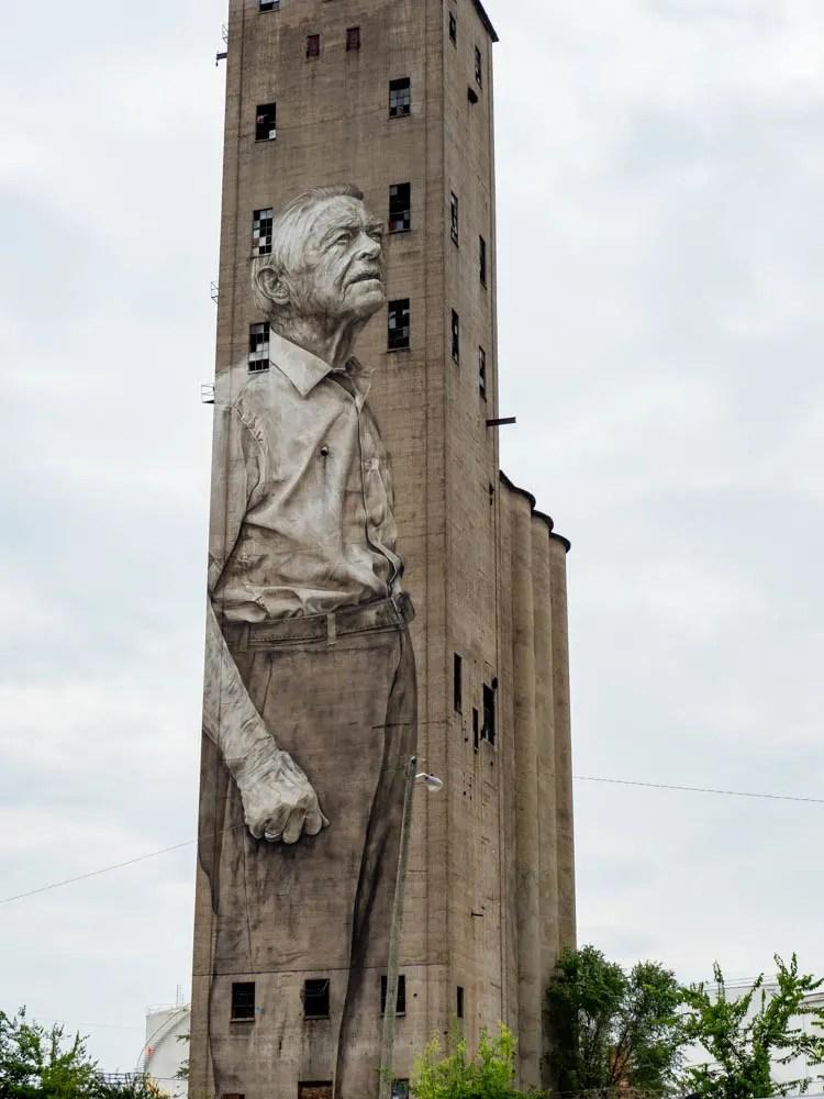Guido Van Helten murals in Nashville Old Man
