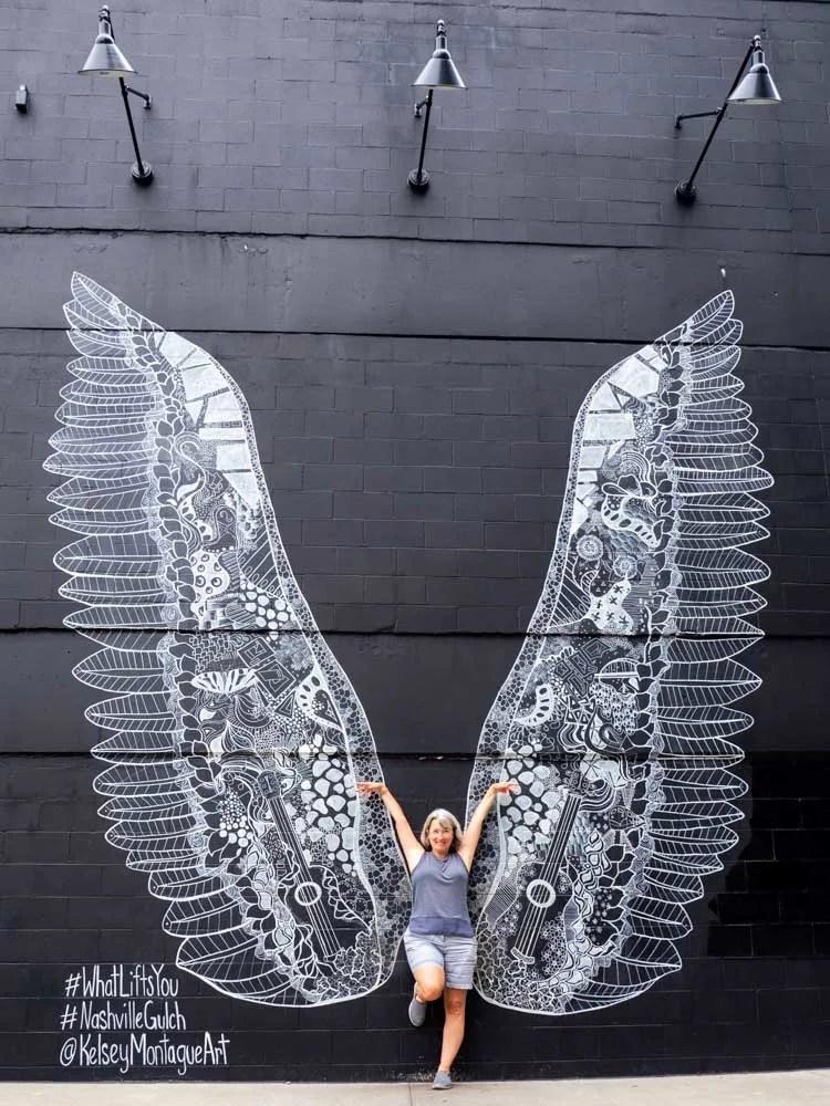 Nashville wings mural Kelsey Montague