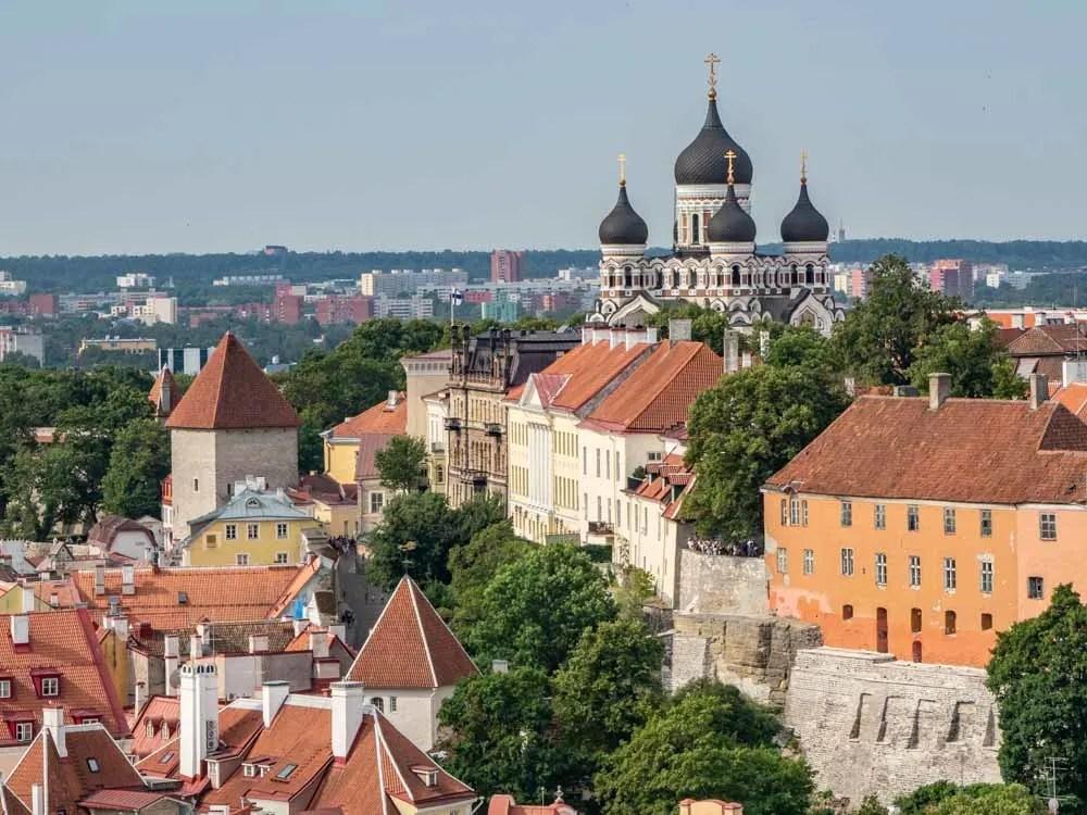 Old Town Tallinn Estonia Toomkirik view of the city