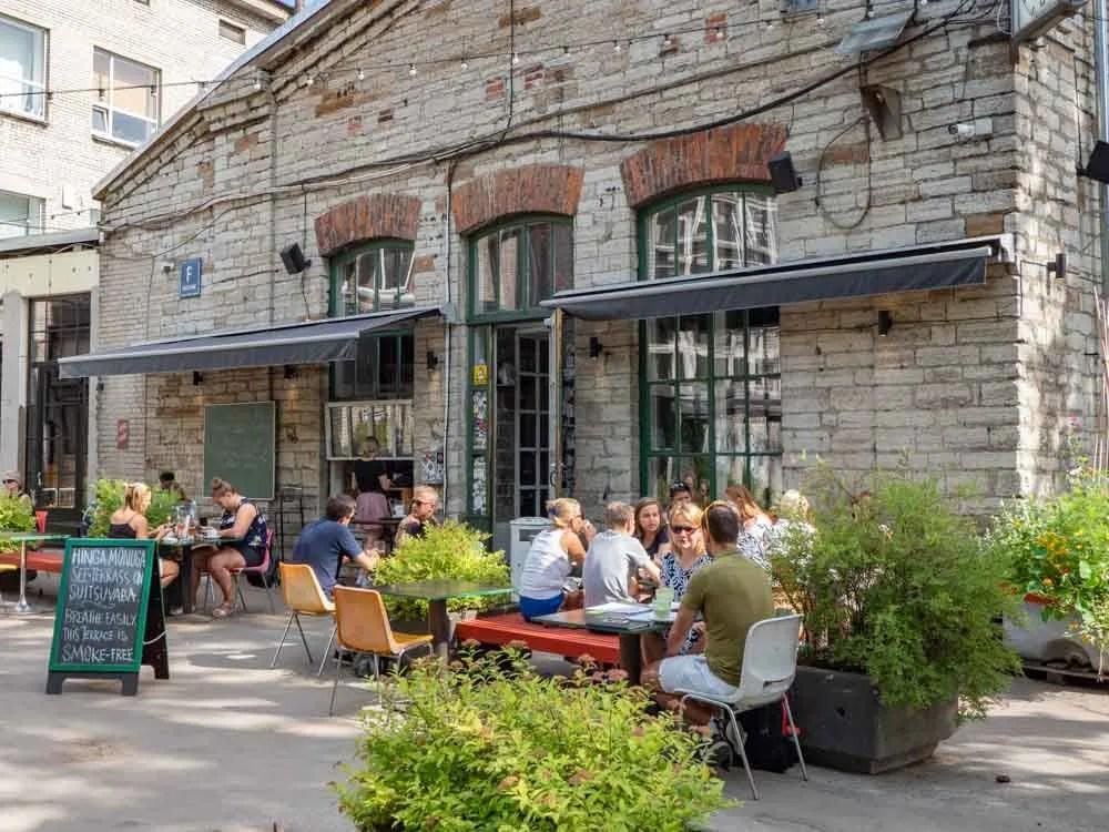 F Hoone Restaurant in Tallinn. Exterior patio