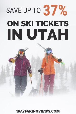 Score a deal for your Utah skiing vacation. This guide will save you big bucks on discount lift tickets. Get your winter snow fix and save money skiing in Salt Lake City at Park City, Alta, Snowbird, Brighton, Solitude and Deer Valley.  #WinterTravel in #Utah