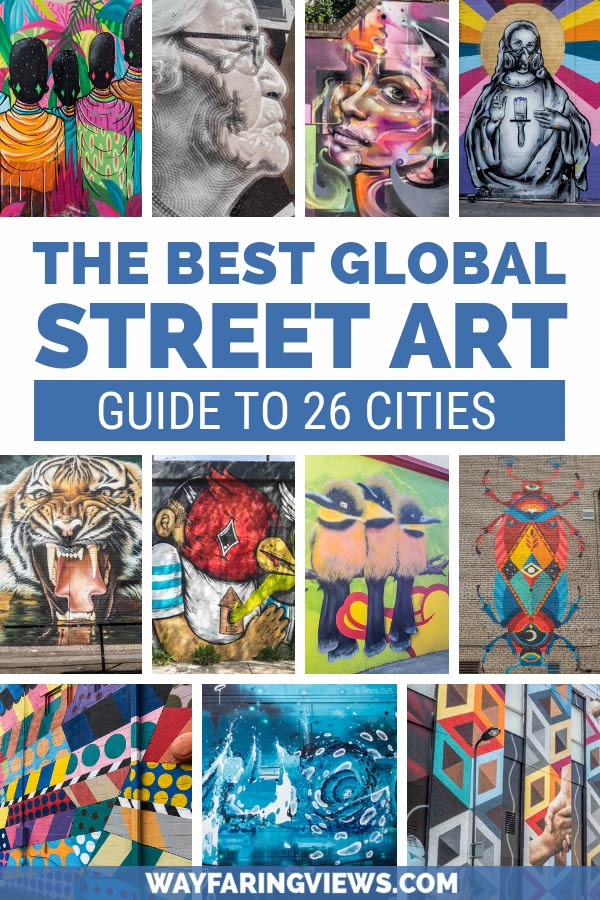 Find top notch murals and graffiti in the world with this guide to the best street art cities. This guide will show you cities like London, LA, Melbourne and New York, with cool, colorful urban art.