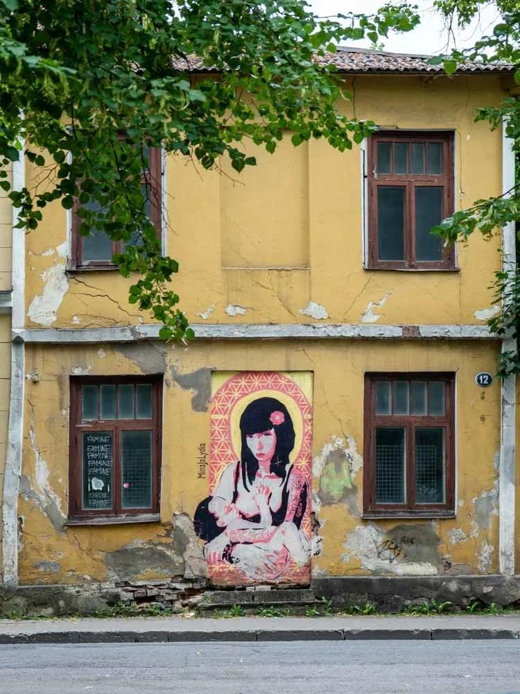 Tartu estonia Mother Child stencil by Edward von Lõngus
