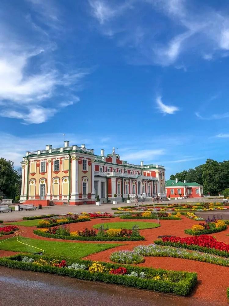 Tallinn Estonia Kadriorg Palace and park with gardens