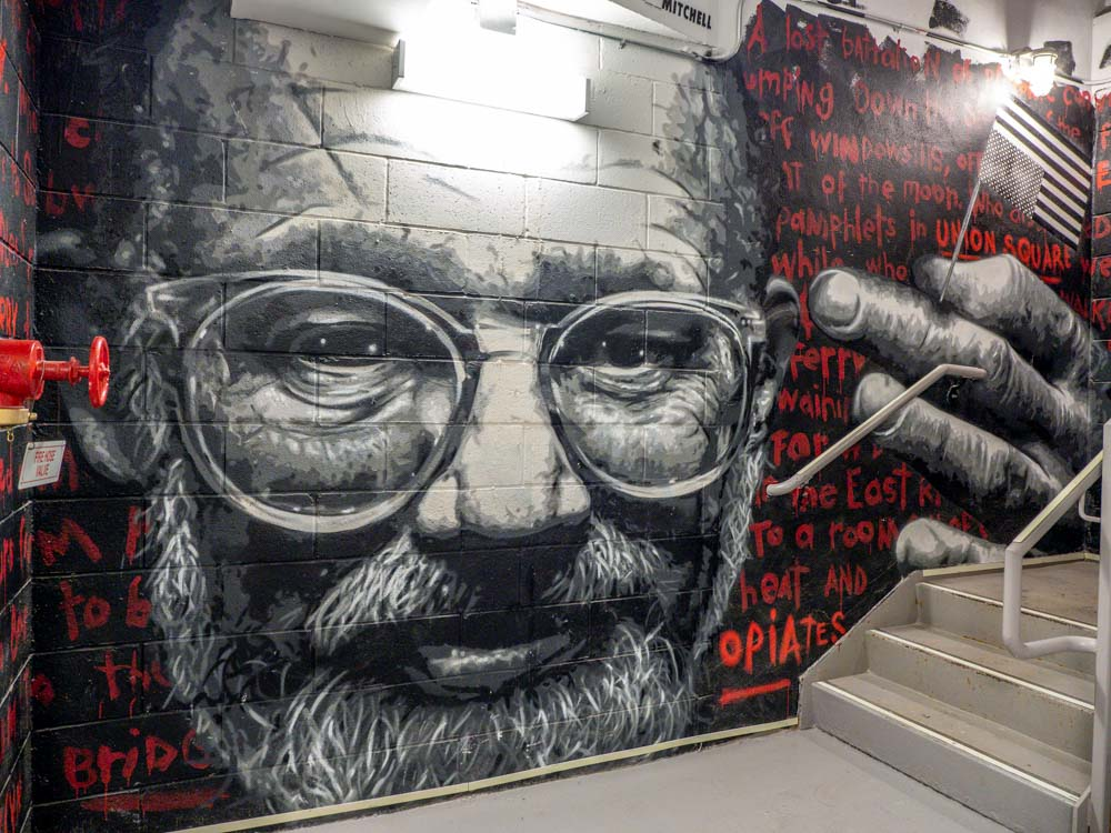 MOSA mural Allen Ginsberg by Damien Mitchell