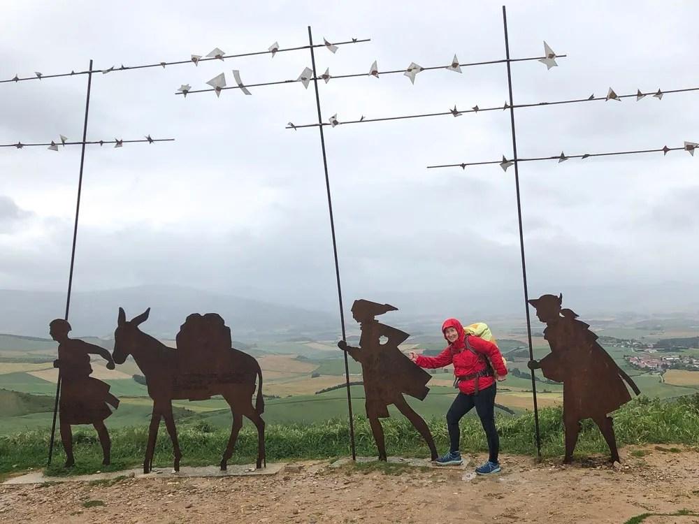 Camino de Santiago pilgrim sculptures