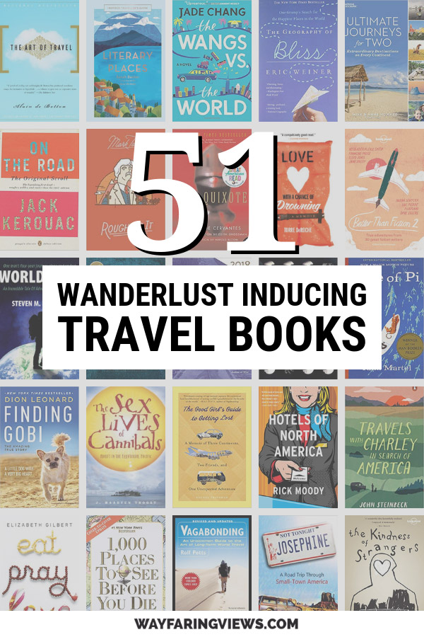 51 best travel books with book covers