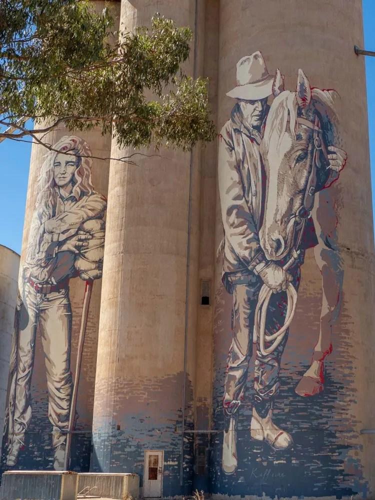 Painted silos of Victoria, by Kaff-eine