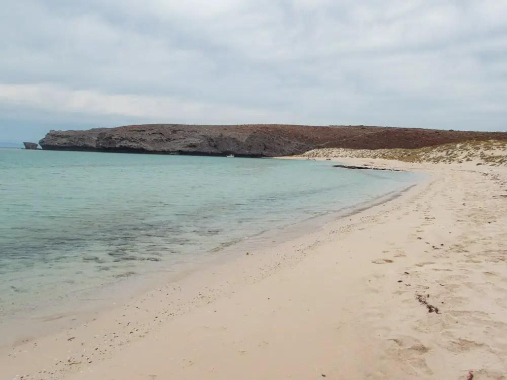 La Paz Mexico beaches: Balandro Bay. Sand and shore.