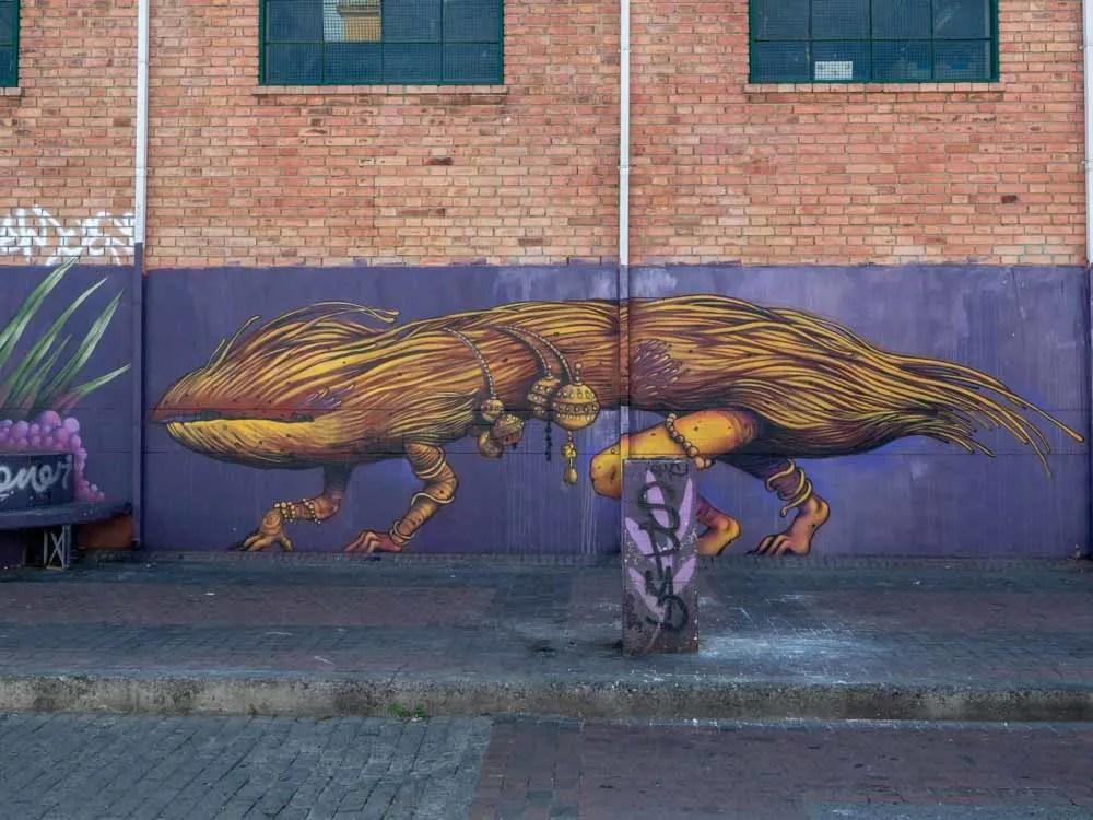 Bogota mural- hairy monster