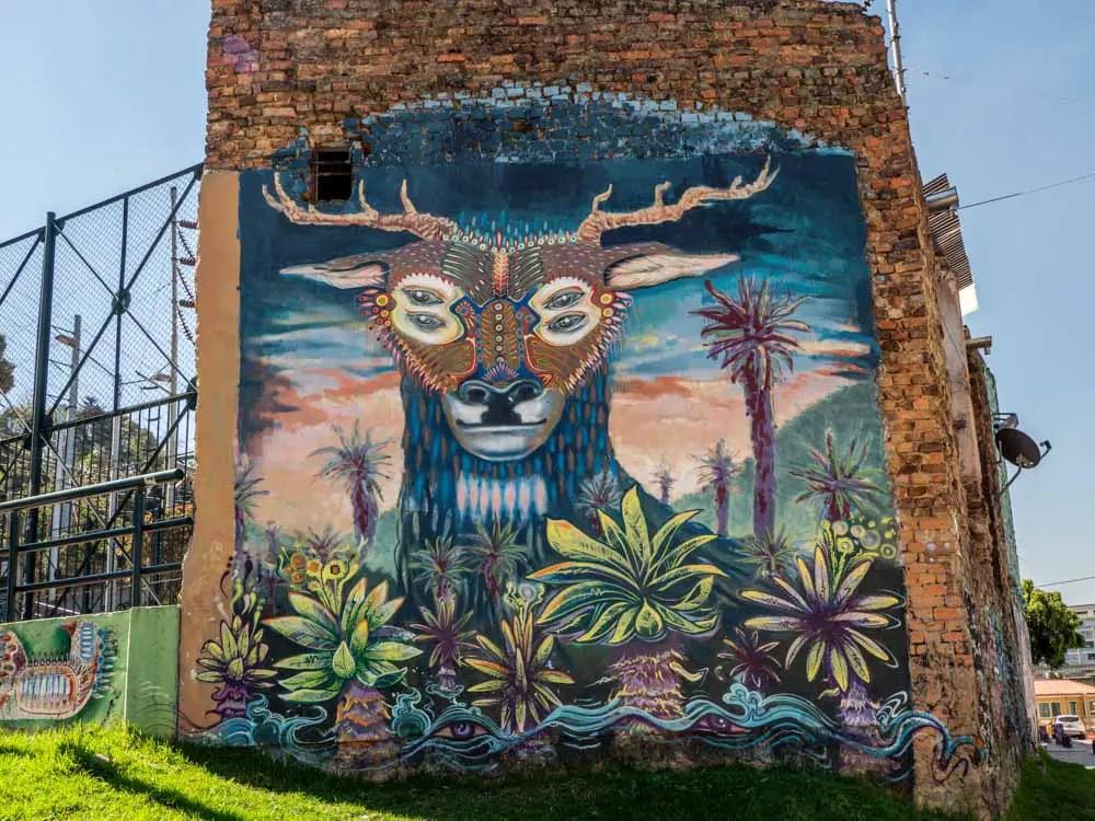 Street art Bogota Parque la Concordia deer mural