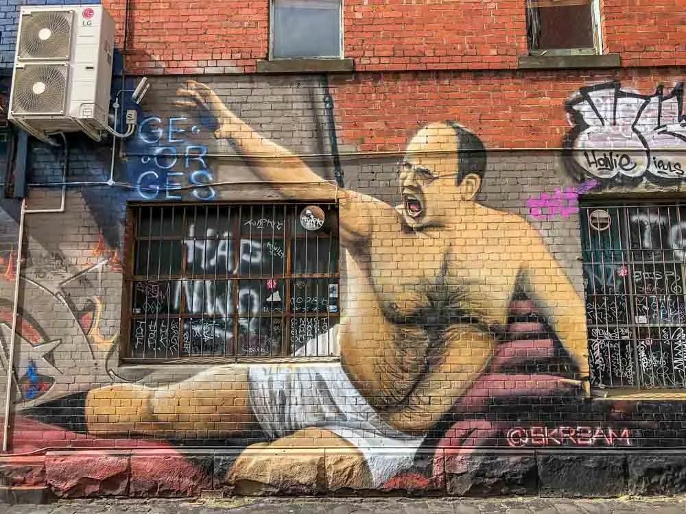 Melbourne mural of George Costanza