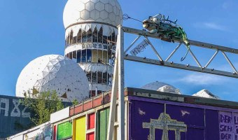 alternative things to do in - Berlin Teufelsberg listening station- abandoned tower and graffiti