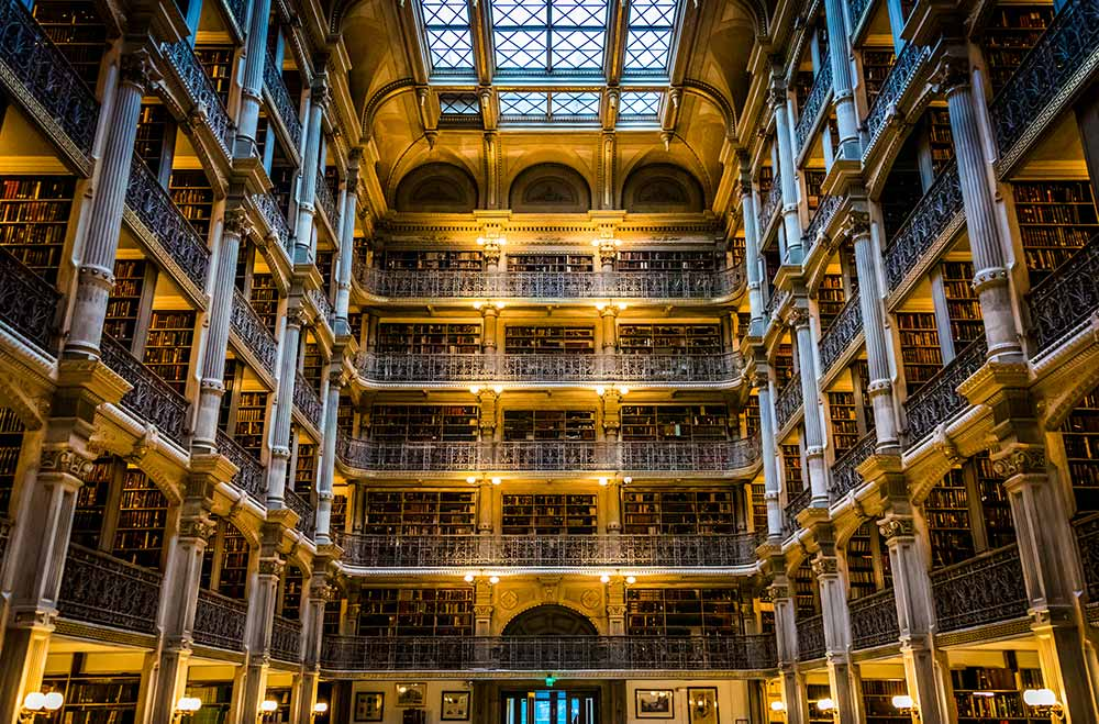Maryland George Peabody library Baltimore