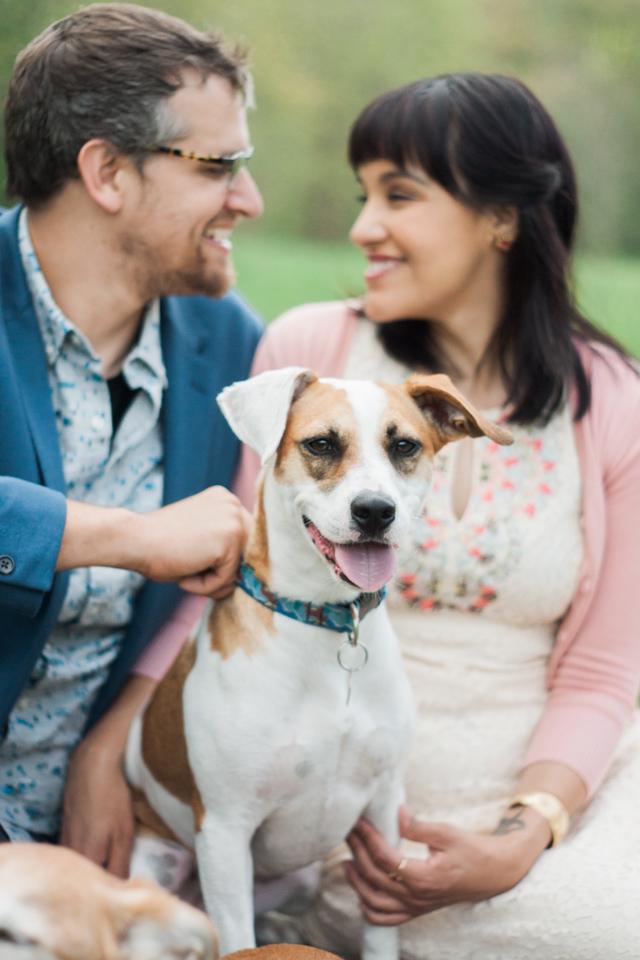Todd Island Park Newlywed Photos w/ Dogs