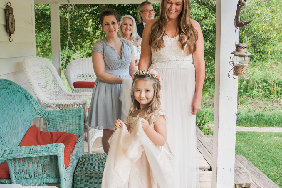 White Fence Farm Wedding Venue - Flowergirl Photo