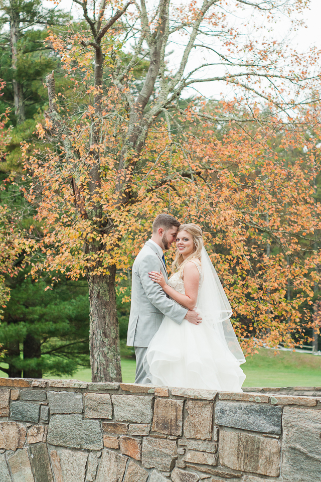 Bride & Groom Portraits with Fall Color