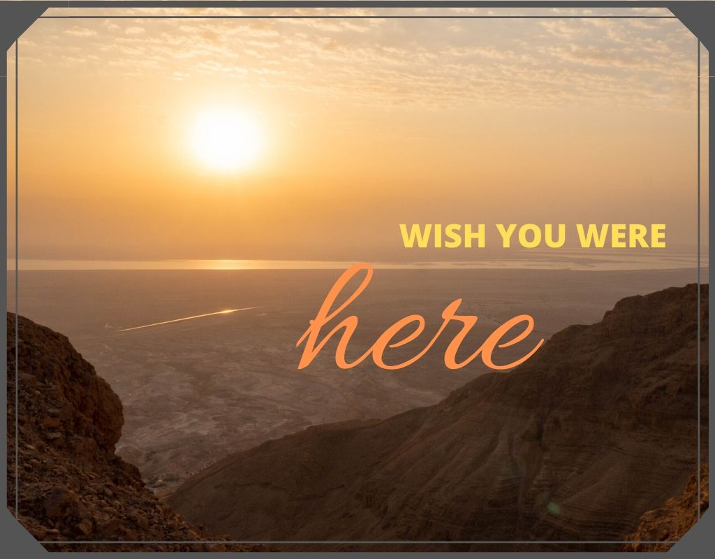 Sunday postcard from… the Dead Sea, Israel