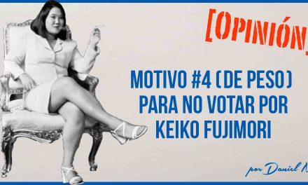 No votaré por Keiko Fujimori por su nula experiencia laboral