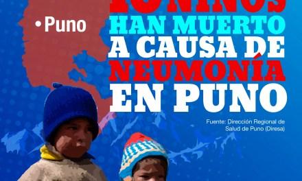 Heladas: 10 niños mueren por neumonía en Puno