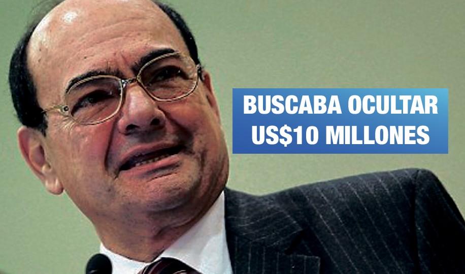 Un alto funcionario de García buscaba ocultar US$10 millones