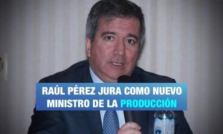 Nuevo Ministro de la Producción