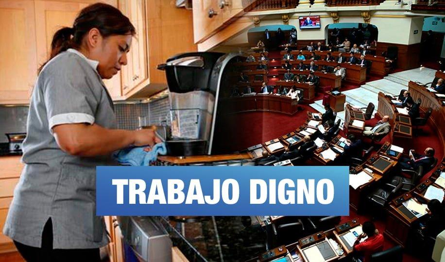 Congreso ratifica Convenio 189 que reconoce derechos laborales de trabajadoras del hogar