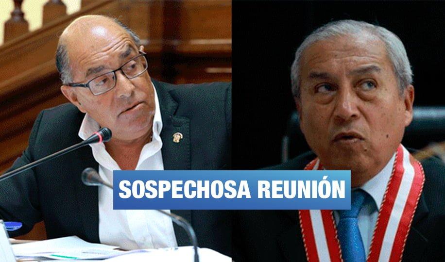 Pedro Chávarry se reunió con Donayre, el congresista sentenciado de robo