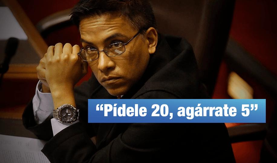 Congresista Vieira pidió US$ 20 mil a su primo a cambio de favor en ministerio