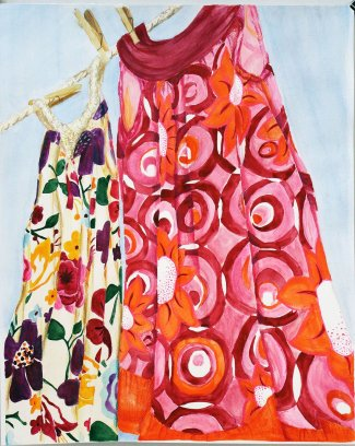 Summer Dresses, a painting by Anika Reichelt